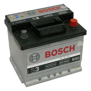 Автомобильный аккумулятор BOSCH S3 001 12V 41Ah 360A обратная полярность (0092S30010)