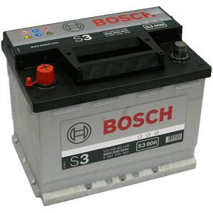 Автомобильный аккумулятор BOSCH S3 006 12V 56Ah 480A прямая полярность (0092S30060)