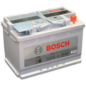 Автомобильный аккумулятор BOSCH S6 001 AGM (гелевый) HightTec 12V 70Ah 760A обратная полярность (0092S60010)