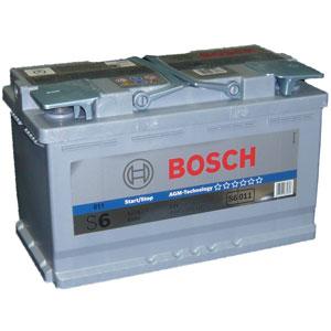 Автомобильный аккумулятор BOSCH S6 011 AGM (гелевый) HightTec 12V 80Ah 800A обратная полярность (0092S60110)